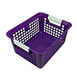Romanoff Products ROM74906BN Book Basket44; Purple - 3 Each - Pack of 3
