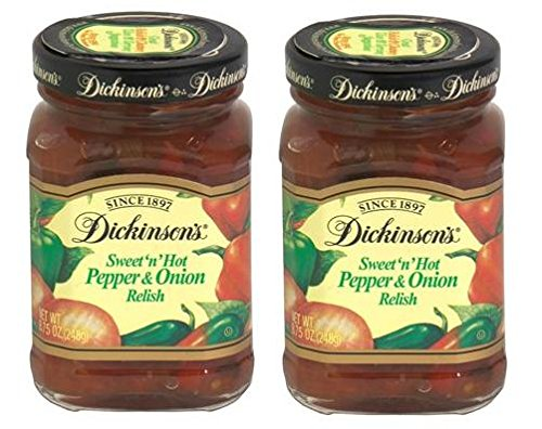 - Dickinson's Sweet 'n' Hot Pepper and Onion Relish 8.75 Ounces (2 Pack)