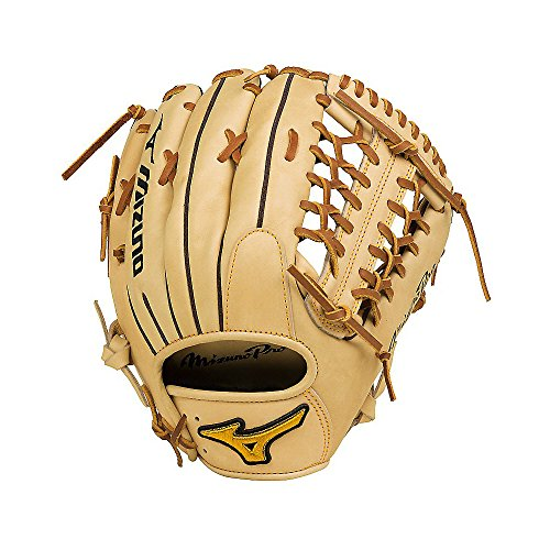 "Mizuno GMP2-700DS Mizuno Pro Outfield Baseball Glove, Tan, 12.75"", Right Hand Throw"