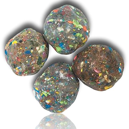Custom & Unique {38mm} 1 Dozen, Mid-Size Super High Bouncy Balls, Made of Grade A+ Rebound Rubber w/ Party Unisex Classic Vibrant Carnival Prize Outer Space Asteroid Martian Rock Style (Multicolor)