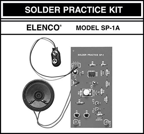 51dFyDSYJ1L - Elenco  Practical Soldering Project Kit