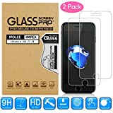 iPhone 8, 7, 6S, 6 Screen Protector, Tempered Glass Protective Screen Saver for Apple i Phone 8, iPhone7, iPhone 6S, iPhone Accessories 9H Ultra Thin, HD Clear, Anti-Scratch, Anti-Fingerprint [2 Pack]