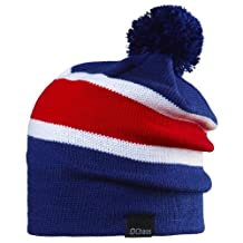 Chaos Football Striped Convertible Slouch Beanie