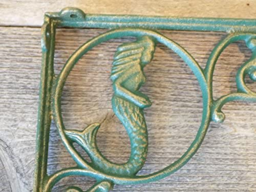 6 CAST Iron Mermaid Nautical Shelf Brackets Midwest Craft house T14-146SFG-6