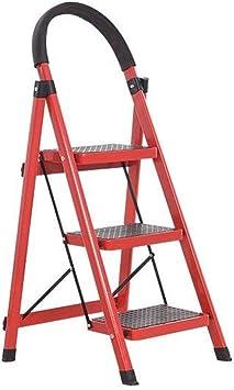 TLTLTD Escalera Plegable Para El Hogar, Aleación De Aluminio Retráctil Para Interiores Escalera De Escalada Lateral De Un Solo Lado 59 × 41 × 117 Cm, Selección Multicolor (Color : Red): Amazon.es: Bricolaje y herramientas