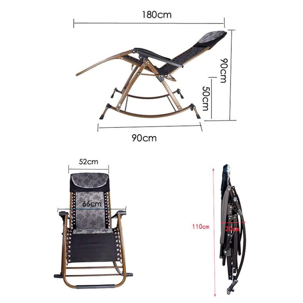 Zhongxingenggeng hopfällbar stol | bänkstol hopfällbar fåtöljer – gungstol fåtöljer balkong gungstol äldre stol hem gunga korg stol vardaglig lunchpaus stol (färg: B) c
