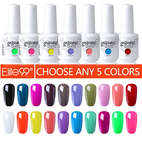 Elite99 Pick Any 5 Colors Soak Off Gel Nail Polish UV LED Co