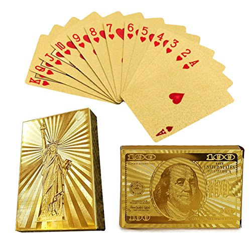 2 Pack Poker 24k Gold Foil Playing Cards Chow Yun-Fat