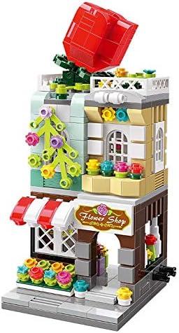 emosq Compatible Building Block Toy Set Creative Educational STEM City Corner Collection C0101 Honey Sweet Dessert House 344 Pcs Model C0101