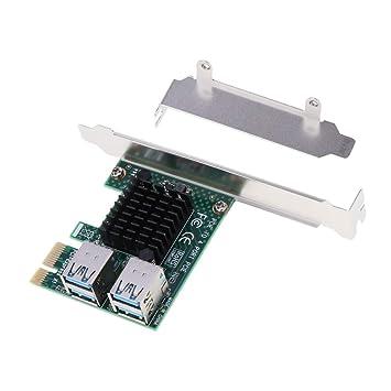 H HILABEE - Tarjeta de expansión PCIe a 4 Puertos PCIe ...