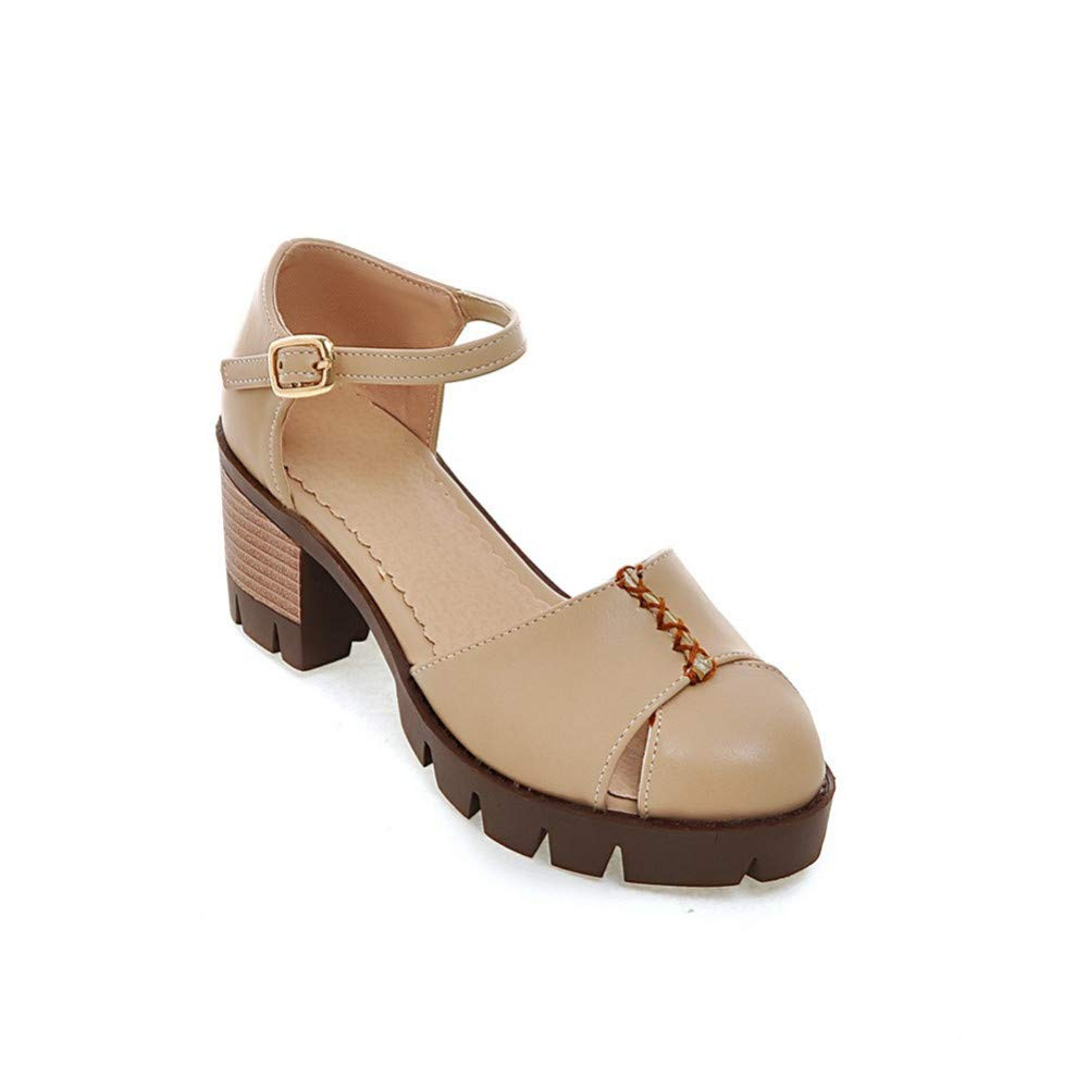 Apricot VIVIOO Les Femmes Pompes à à à Bout Rond Printemps été Mode Boucle Boucle Talons Taille 34-43 Chaussures Confortables Femme f85