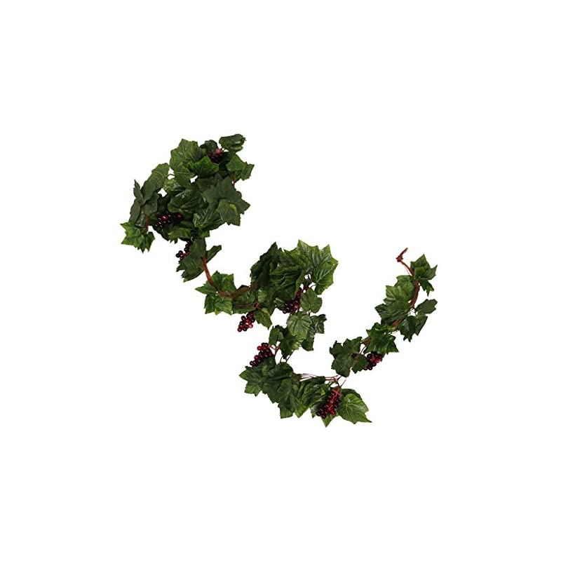 silk flower arrangements monkeyjack 5 pieces creative artificial grape leaves vines fake vine garlands with grapes green leaf ivy for wedding party home wall decor