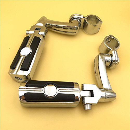 1.25 HTT Group Motorcycle Chrome Adjustable Peg Mounting Kit Skull Zombie Foot Peg Footrest For Harley Davidson Sportster 883 1200 Street Bob Softail CVO Equipped 1-1//4 inch Front Engine Guard