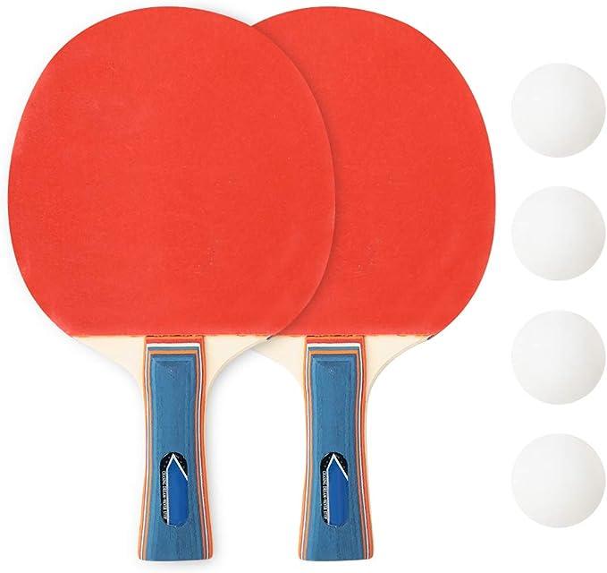 iFCOW - Raqueta de ping-pong, duradero, para mesa de entrenamiento ...