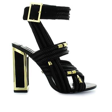 Kat Maconie Noir Doré Chaussures Femme Arabella Cordes Sandale qzpjSUGVLM