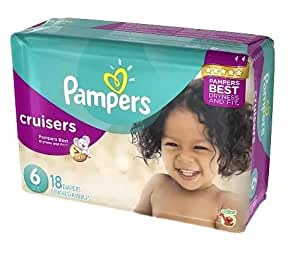 pampers cruisers protection fit size 6 18 0. Black Bedroom Furniture Sets. Home Design Ideas