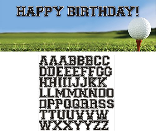 Golf Banner (Creative Converting Sports Fanatic Golf Giant Party Banner with Stickers, Multicolor)