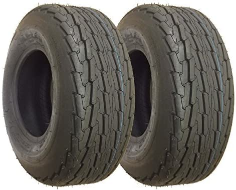 20.5x8.00-10 with 5x4.5 wheel Load 6 Ply Rated Tubeless Trailer Service Tires 20.5x8.0-10 SET OF 2
