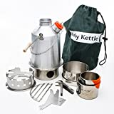 Ghillie Kettle Best Deals - Kelly Kettle Ultimate Aluminum Medium Scout Camp Stove Kit. The Perfect Camp Stove for Cooking, Hiking, Camping, Kayaking, Fishing, and Hunting. Boil Water, Cook Fast, Survive.