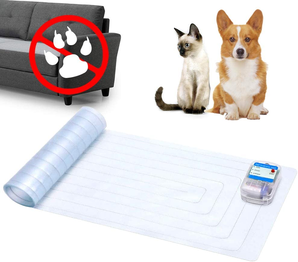 "Unicam Indoor Pet Scat Shock Mat, 60""x12"" Pet Training Mat for Dogs and Cats, Electronic Training Mat Keep Pets Off Furniture, Safe Dog Repellent Mat with 3 Training Modes, Sofa Couch Protector"