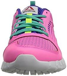 Reebok Zquick 2.0 Training Shoe (Little Kid/Big Kid),Electro Pink/Ultima Purple/Timless Teal/Solar Yellow/White,2 M US Little Kid