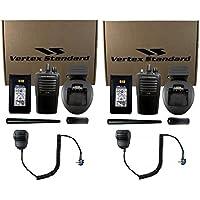 QTY 2 Vertex VX-261-D0 VHF 136-174MHz 5-Watt 16-Channel Two Way Radio and Remote Speacker Microphon