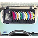 Delhi Traderss Car Cd DVD Visor Organizer Holder Storage Black