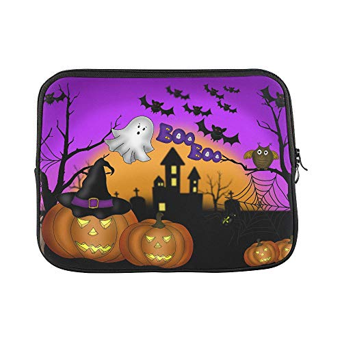 Design Custom Illustration of Halloween Scary Night Background W Sleeve Soft Laptop Case Bag Pouch Skin for MacBook Air 11