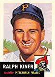 Ralph Kiner baseball card (Pittsburgh Pirates Hall of Fame) 1991 Topps Archives 1953 #191