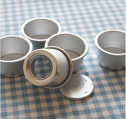 MorningRising Perfect Performance Aluminium Mini Round Chiffon Cake Pan, Set of 5