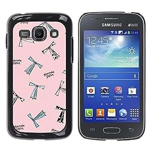 Be Good Phone Accessory // Dura Cáscara cubierta Protectora Caso Carcasa Funda de Protección para Samsung Galaxy Ace 3 GT-S7270 GT-S7275 GT-S7272 // Cartoon Fashion Design Pink Sewin