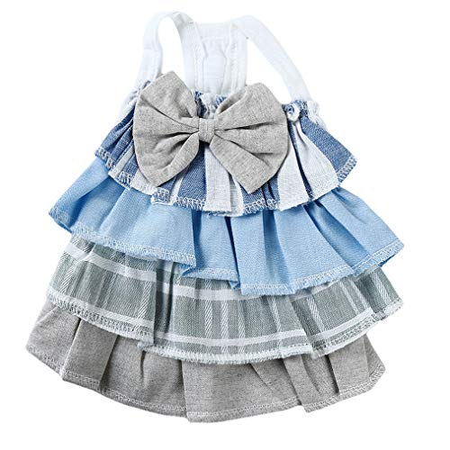 Cngstar Fashion Small Dress Skirt Dog Clothes Puppy Clothing Spring Pet Clothes Pets Supplies Accessories Blue (Xs)