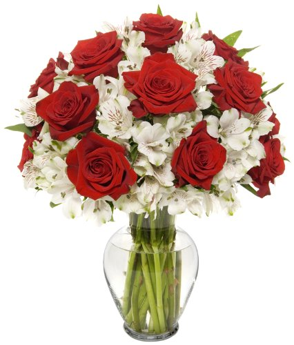 Long Stem Red Rose Alstro Bouquet
