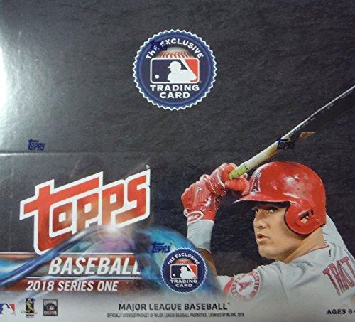 2018 MLB Baseball Series One Unopened Factory Sealed Retail Box with 24 Packs of 12 Cards each (288 cards total) - World Series Mlb Baseball Jersey