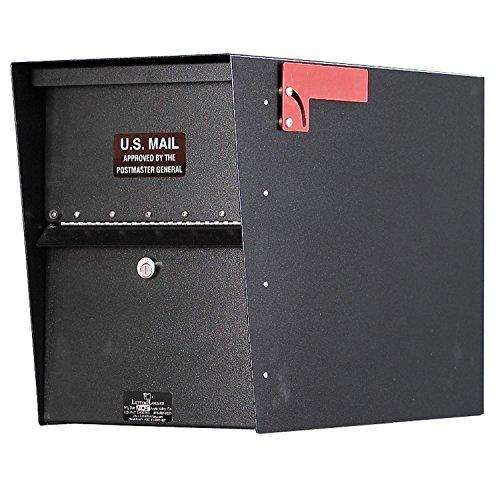 Jayco LLA1STD Standard Aluminum Letter Locker Mailbox Black