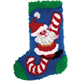 MCG Textiles 37687 Latch Hook Candy Cane Santa Stocking