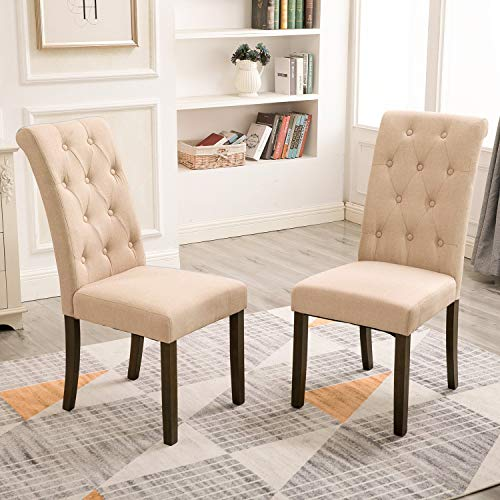 tyle Dining Chair Noble and Elegant Solid Wood Tufted Dining Chair Dining Room Set (Set of 2) ()