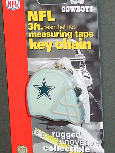 DuraPRO NFL Dallas Cowboys 3 Foot Measuring Tape Key Chain, NEW Dallas Cowboys Tape Measure