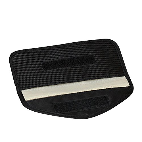 Anti-radiation Bag Anti-tracking Anti-spying GPS Rfid Signal Blocker Pouch Case Bag Handset Function Bag for Cell Phone Privacy Protection and Car Key FOB #81143 (Black)