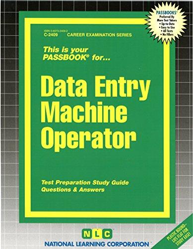 Data Entry Machine Operator(Passbooks)