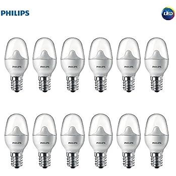 Philips LED 462977 7 Watt Equivalent Soft White Nightlight Candelabra Base, 12 Pack Piece