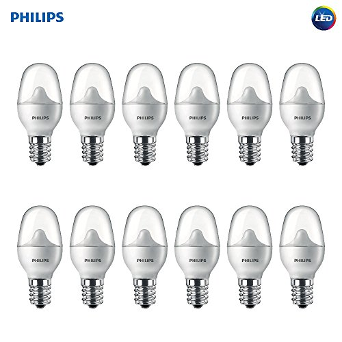 Philips LED 462977 7 Watt Equivalent Soft White Nightlight Candelabra Base, 12 Pack, Piece
