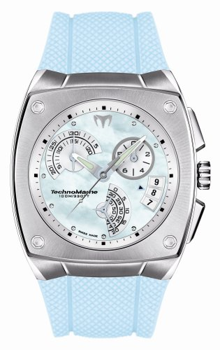 TechnoMarine Women's KRA11 Kra Blue Mother-of-Pearl Rubber Strap Watch