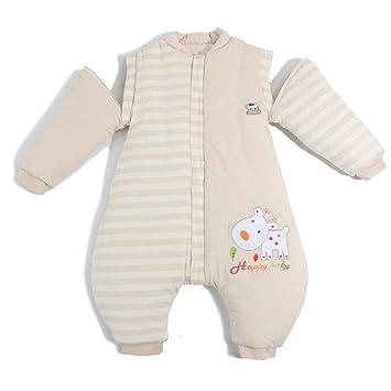 Modelos del otoño y del Invierno del Saco de Dormir orgánico del bebé del Saco de Dormir de Las piernas del bebé del algodón orgánico del Color (tamaño ...