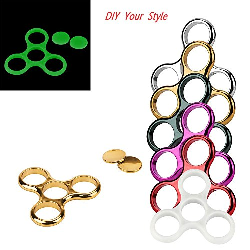 FTXJ Gold-Plated Without Bearing Tri-Spinner Frame Shell For Hand Spinner Fidget Toy (Army Green)