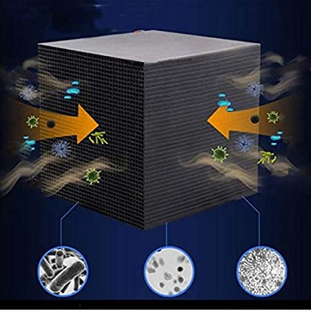 1pcs Fish Tank Water Purifier Cube New Filtration Material,Ultra Strong Filtration /& Absorption Water Purifier Filter,Rapid Water Purification Aquarium Filter Ultra-Absorption Activated Carbon Block