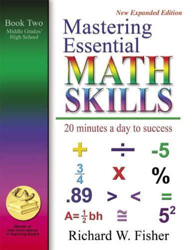 Mastering Essential Math Skills Book Two Middle Grades/High School....INCLUDING AMERICA'S MATH TEACHER DVD WITH OVER 7 HOURS OF - School Math Curriculum High
