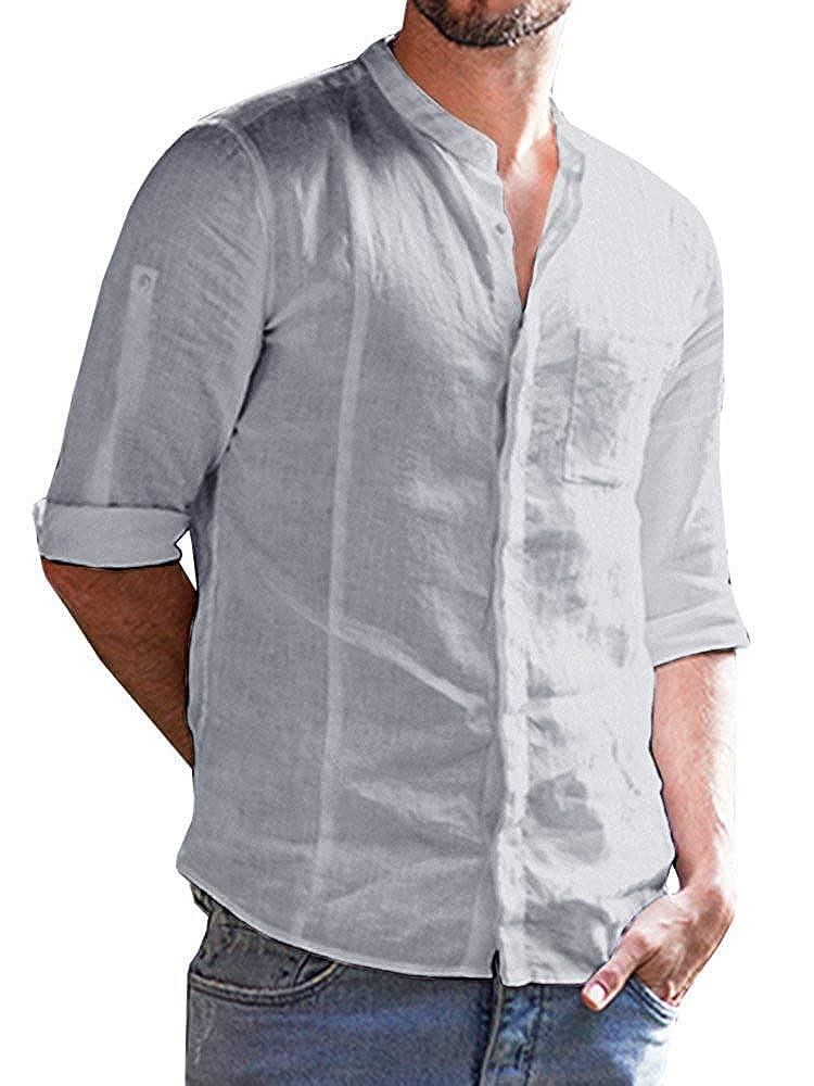 Lueyifs Herren Freizeithemd 3/4 Ärmel Männer Sommer Hemd Casual Regular Fit Oberteile