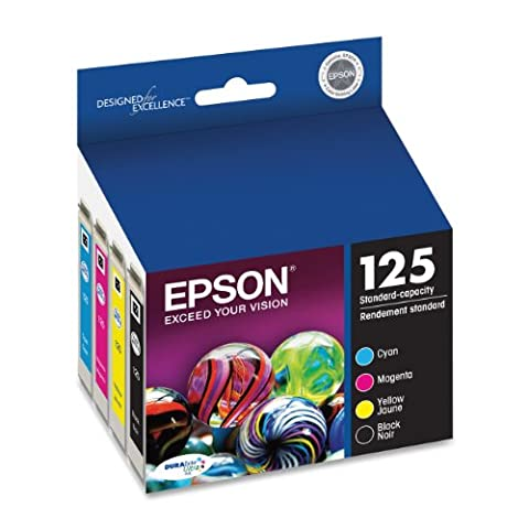 Epson T125120-BCS DURABrite Ultra Black and Color Combo Pack Standard Capacity Cartridge Ink (Epson Wf 520 Black)