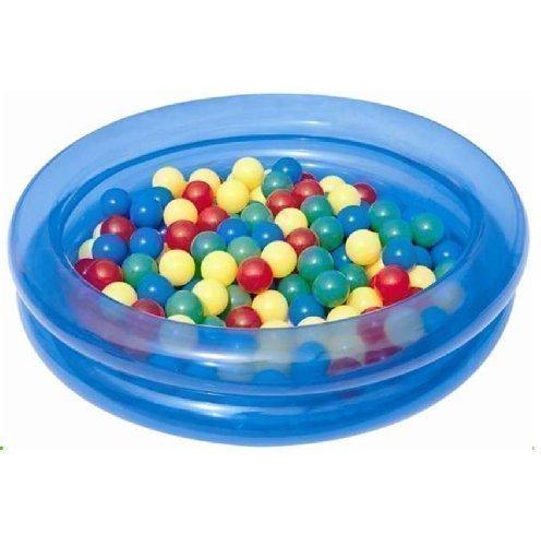 Bestway - Kinder Aufblasbares 2 Ringe Planschbecken Ball Spiel Spielzeug Set - Blau #51085